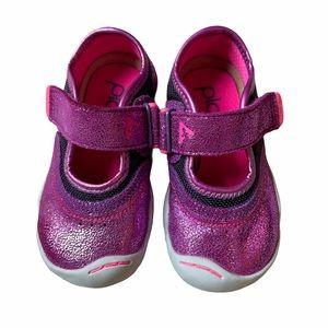 Plae Maryjane Purple Pink Metallic Sneakers